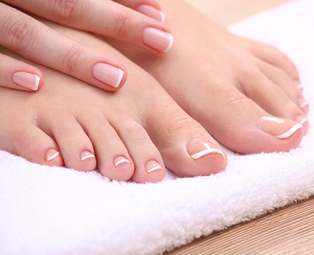 manicure and pedicure isolated white viso medi spa